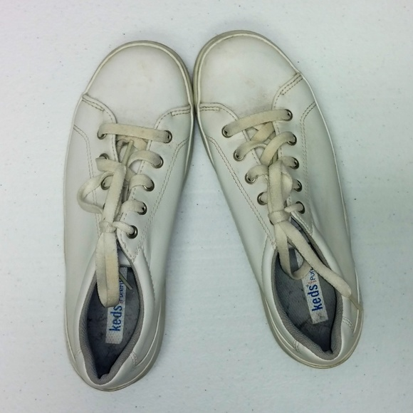 keds Shoes   Off White Lace Up Sneakers